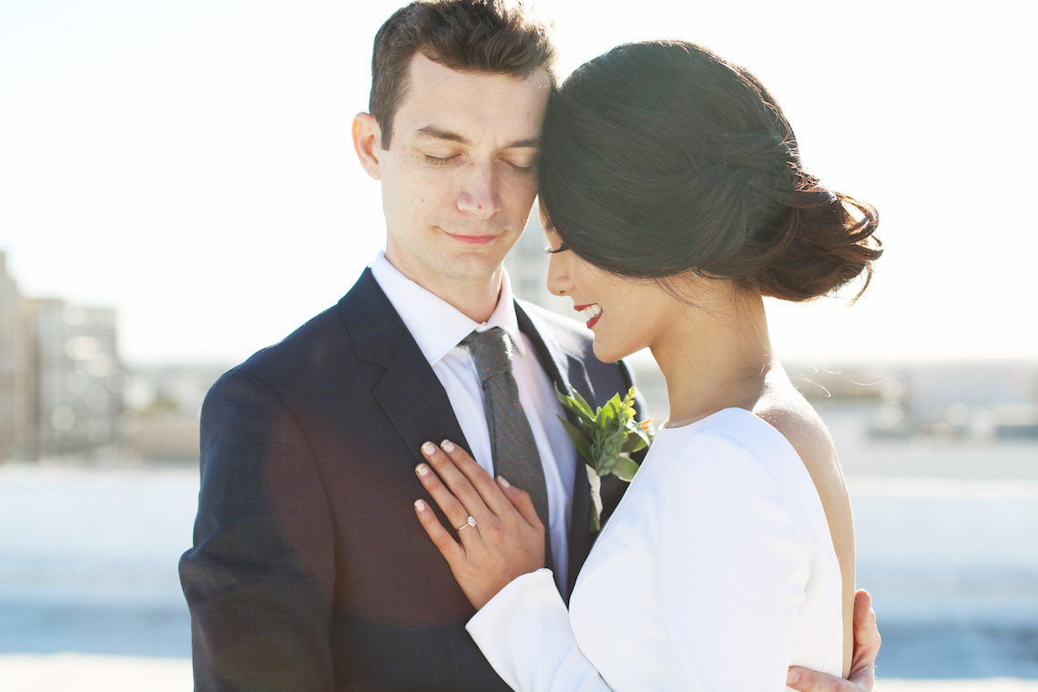 Colorful Rooftop Wedding With Geometric Modern Designs   Christian + Reinna Cruz 13