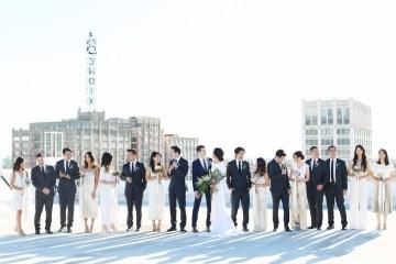 Colorful Rooftop Wedding With Geometric Modern Designs | Christian + Reinna Cruz 14