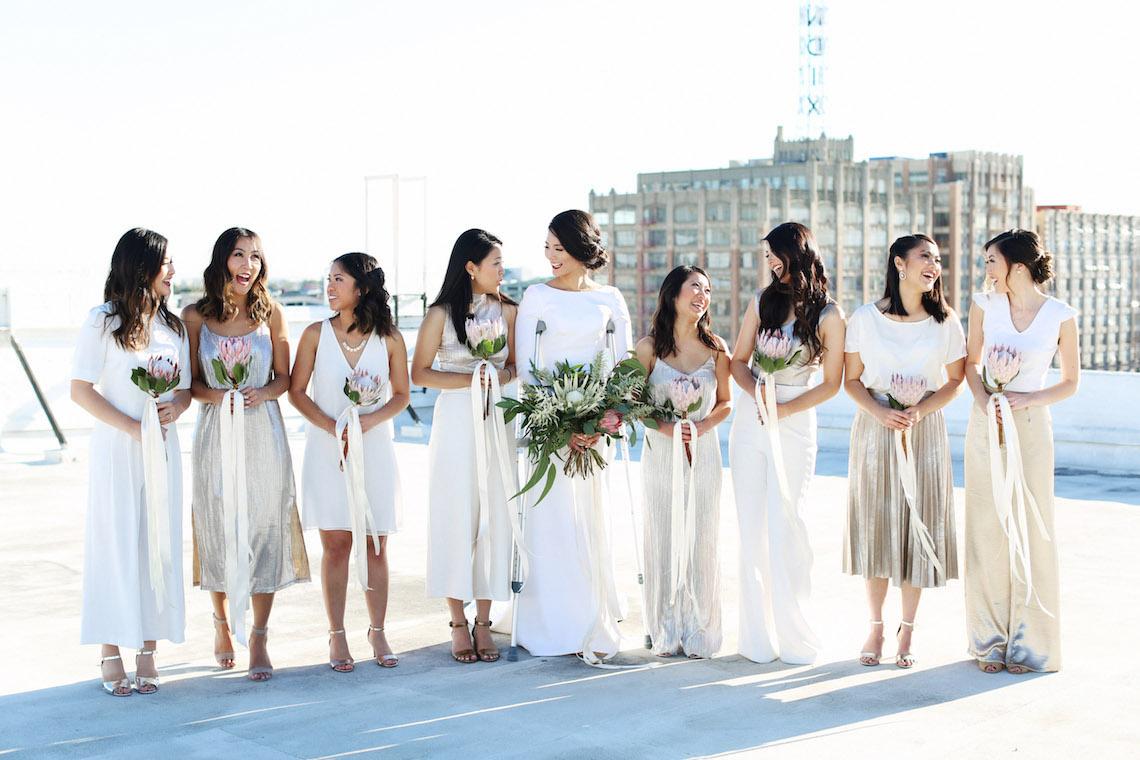 Colorful Rooftop Wedding With Geometric Modern Designs   Christian + Reinna Cruz 15