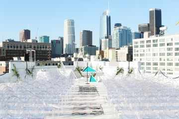Colorful Rooftop Wedding With Geometric Modern Designs | Christian + Reinna Cruz 18