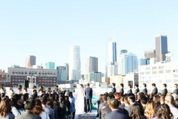 Colorful Rooftop Wedding With Geometric Modern Designs | Christian + Reinna Cruz 28