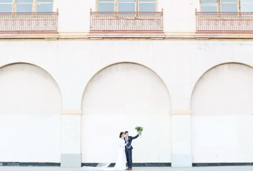 Colorful Rooftop Wedding With Geometric Modern Designs | Christian + Reinna Cruz 35