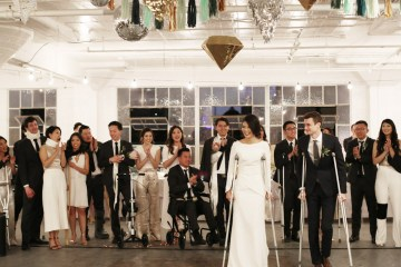 Colorful Rooftop Wedding With Geometric Modern Designs | Christian + Reinna Cruz 39