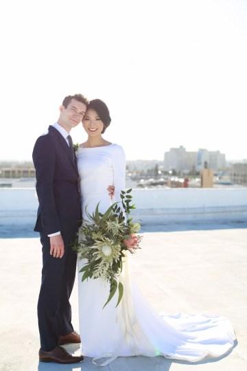 Colorful Rooftop Wedding With Geometric Modern Designs | Christian + Reinna Cruz 47