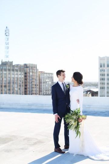 Colorful Rooftop Wedding With Geometric Modern Designs | Christian + Reinna Cruz 48