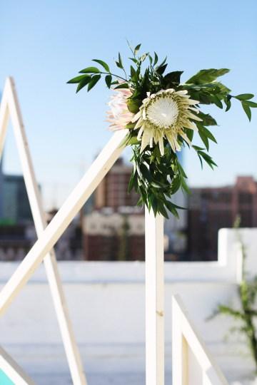 Colorful Rooftop Wedding With Geometric Modern Designs | Christian + Reinna Cruz 52