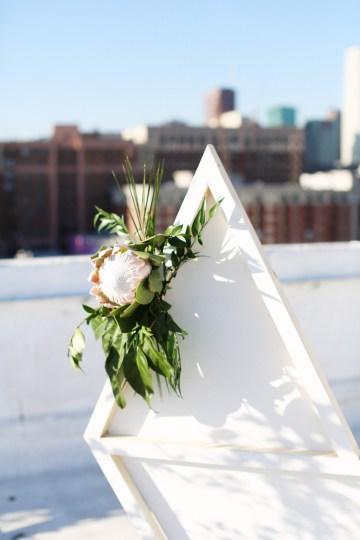 Colorful Rooftop Wedding With Geometric Modern Designs | Christian + Reinna Cruz 53