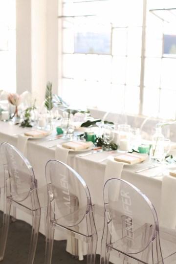 Colorful Rooftop Wedding With Geometric Modern Designs | Christian + Reinna Cruz 59