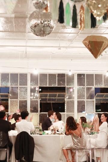 Colorful Rooftop Wedding With Geometric Modern Designs | Christian + Reinna Cruz 76
