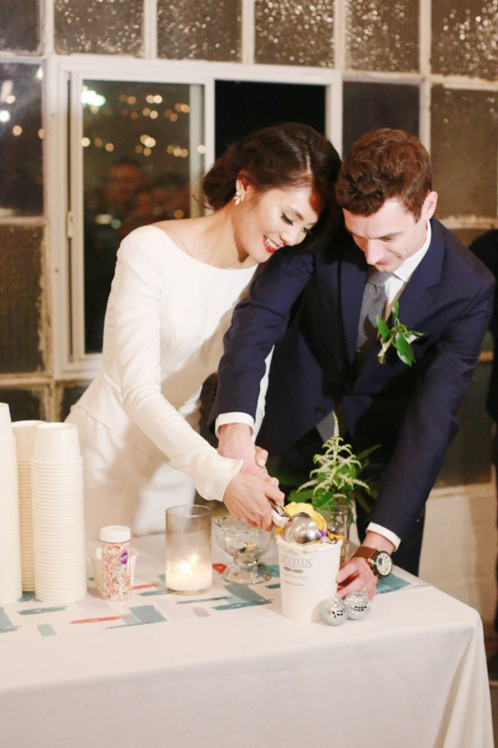 Colorful Rooftop Wedding With Geometric Modern Designs   Christian + Reinna Cruz 77