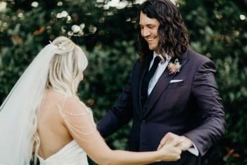 Cool Pampas Grass Wedding With Deep Berry Tones | Cedarwood Weddings 16
