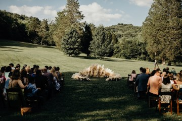 Cool Pampas Grass Wedding With Deep Berry Tones | Cedarwood Weddings 19