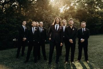 Cool Pampas Grass Wedding With Deep Berry Tones | Cedarwood Weddings 28