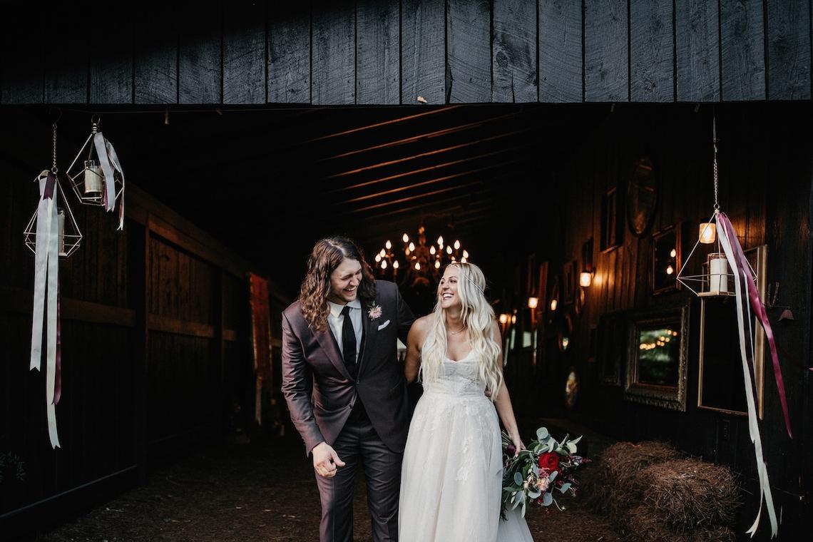 Cool Pampas Grass Wedding With Deep Berry Tones | Cedarwood Weddings 31