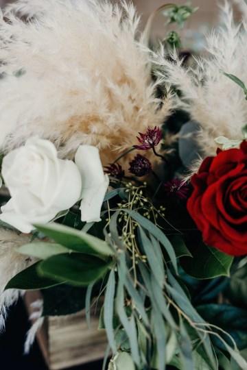 Cool Pampas Grass Wedding With Deep Berry Tones | Cedarwood Weddings 54