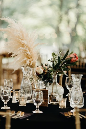 Cool Pampas Grass Wedding With Deep Berry Tones | Cedarwood Weddings 62