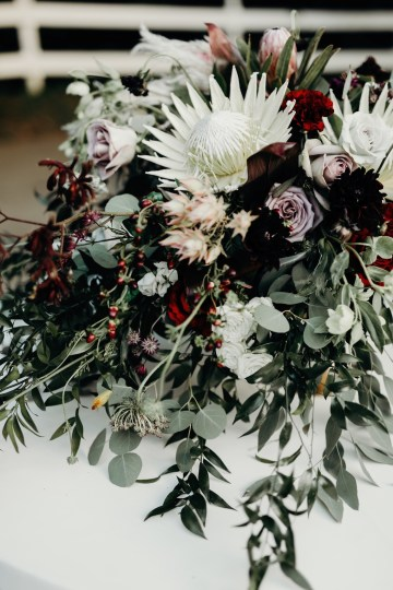 Cool Pampas Grass Wedding With Deep Berry Tones | Cedarwood Weddings 66