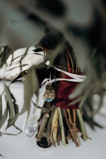 Cool Pampas Grass Wedding With Deep Berry Tones | Cedarwood Weddings 68