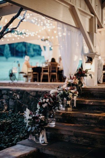 Cool Pampas Grass Wedding With Deep Berry Tones | Cedarwood Weddings 87
