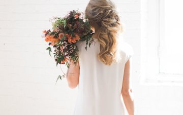 Light & Modern Wedding Inspiration With Cool, Modest Gowns