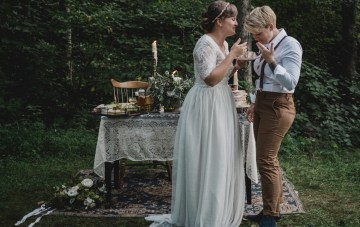 Rustic, Woodsy, Oh So Sweet Surprise Vow Renewal
