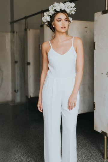 Cool Courthouse Wedding Inspiration Featuring A Bridal Jumpsuit | Rachel Birkhofer Photography 11