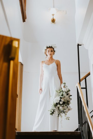 Cool Courthouse Wedding Inspiration Featuring A Bridal Jumpsuit | Rachel Birkhofer Photography 14