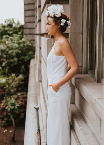 Cool Courthouse Wedding Inspiration Featuring A Bridal Jumpsuit | Rachel Birkhofer Photography 24