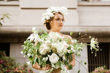 Cool Courthouse Wedding Inspiration Featuring A Bridal Jumpsuit | Rachel Birkhofer Photography 36