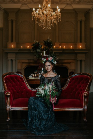 Luxurious Red & Green Wedding Inspiration Featuring A Glam Black Gown | Jamie Sia Photography 20