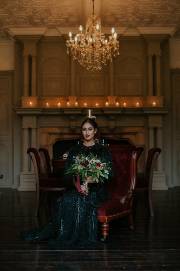 Luxurious Red & Green Wedding Inspiration Featuring A Glam Black Gown | Jamie Sia Photography 23