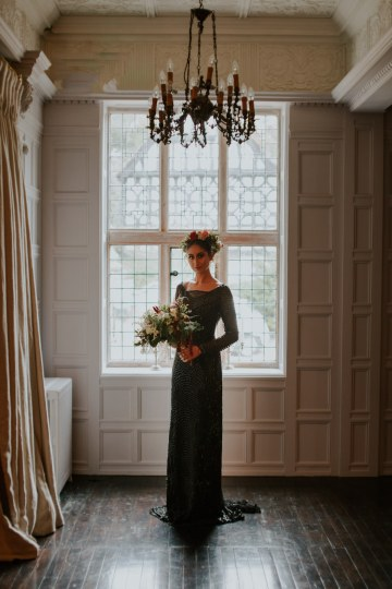 Luxurious Red & Green Wedding Inspiration Featuring A Glam Black Gown | Jamie Sia Photography 37