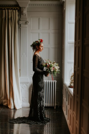 Luxurious Red & Green Wedding Inspiration Featuring A Glam Black Gown | Jamie Sia Photography 39