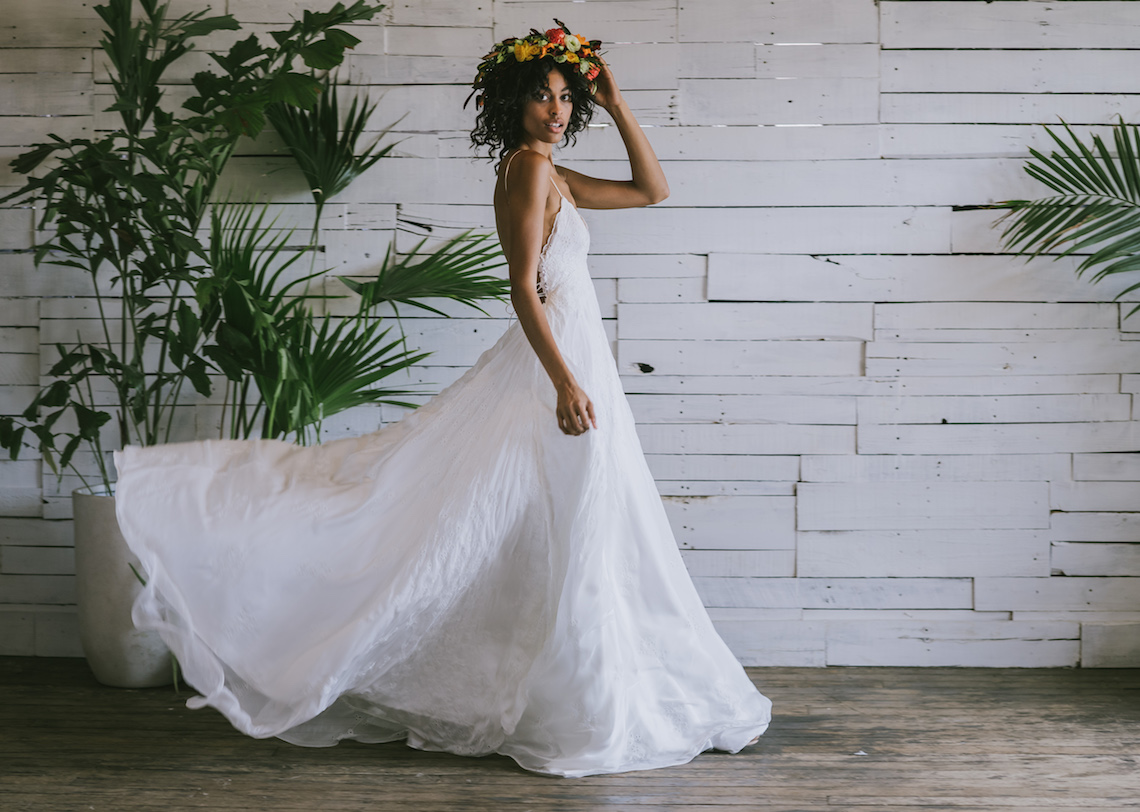 This tropical Brooklyn photoshoot is why we love bridal separates so ...