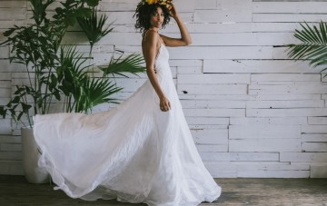 Boho Gowns & Cool Bridal Separates From The Tropical Town of Brooklyn