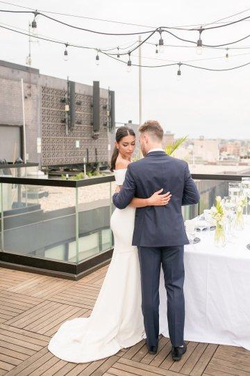 Classy Modern Rooftop Wedding Inspiration | Anna + Mateo Photography 19