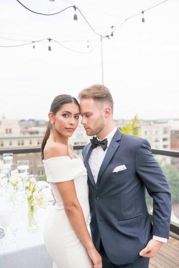 Classy Modern Rooftop Wedding Inspiration | Anna + Mateo Photography 21