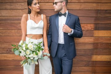 Classy Modern Rooftop Wedding Inspiration | Anna + Mateo Photography 62