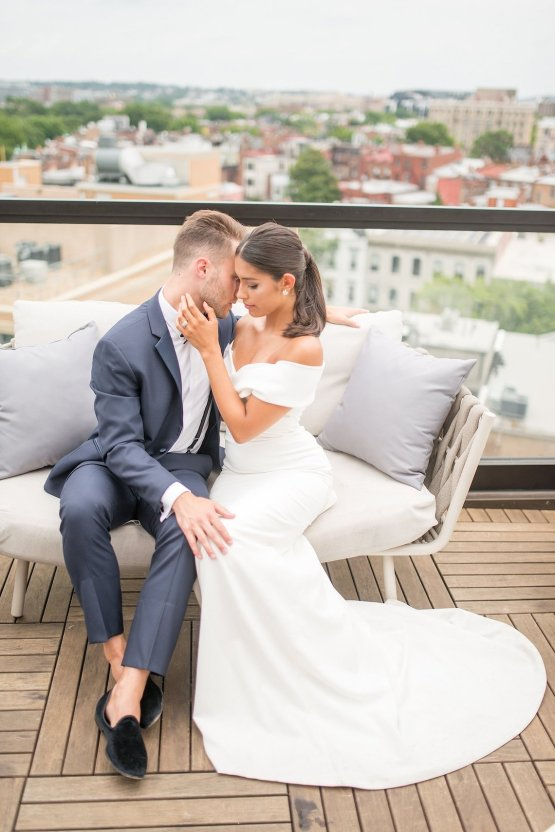 Classy Modern Rooftop Wedding Inspiration | Anna + Mateo Photography 8