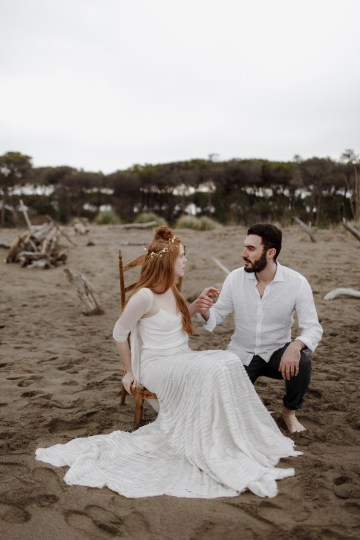 Driftwood & Seagrass, Seaside Boho Wedding Inspiration | Monica Leggio 41