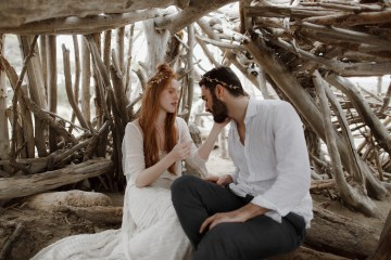 Driftwood & Seagrass, Seaside Boho Wedding Inspiration | Monica Leggio 9