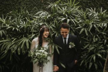Modern & Hip Bali Wedding Featuring Sparklers & Flower Crowns | Iluminen Photography 11