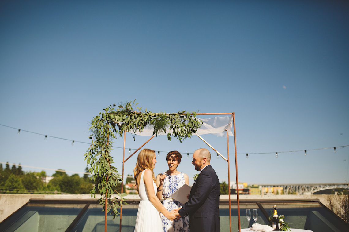 Tropical Urban Rooftop Wedding In Seattle | The Shalom Imaginative 7