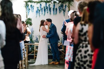 Underground Gallery Wedding In London With Cool, Flashy Signage   Studio 1208 Photography 2