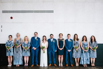 Underground Gallery Wedding In London With Cool, Flashy Signage   Studio 1208 Photography 9