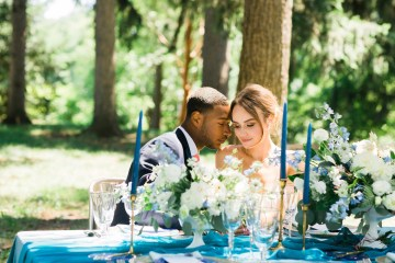 Vibrant Ocean Blue Watercolor Wedding Inspiration | Lola Event Productions | Artistrie Co. 1
