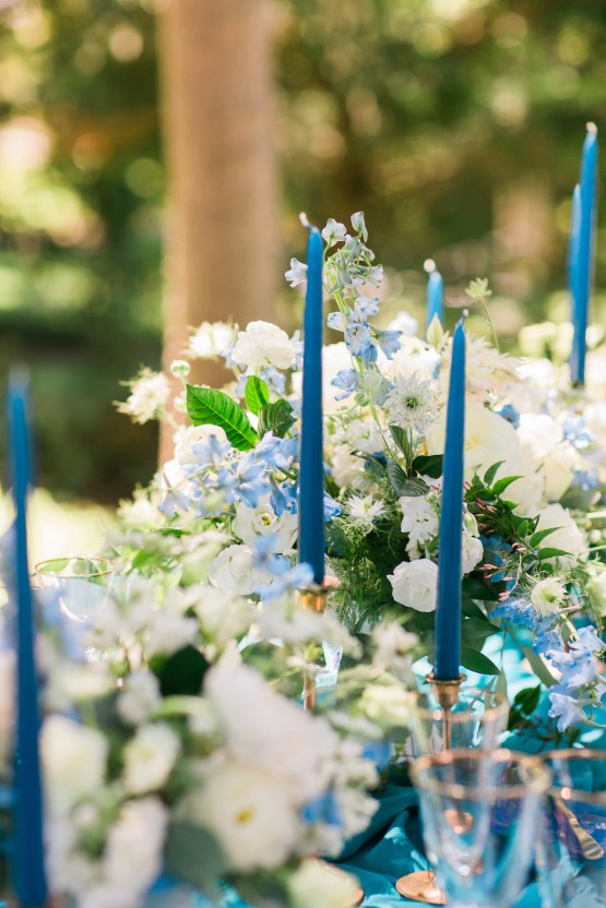 Vibrant Ocean Blue Watercolor Wedding Inspiration | Lola Event Productions | Artistrie Co. 15
