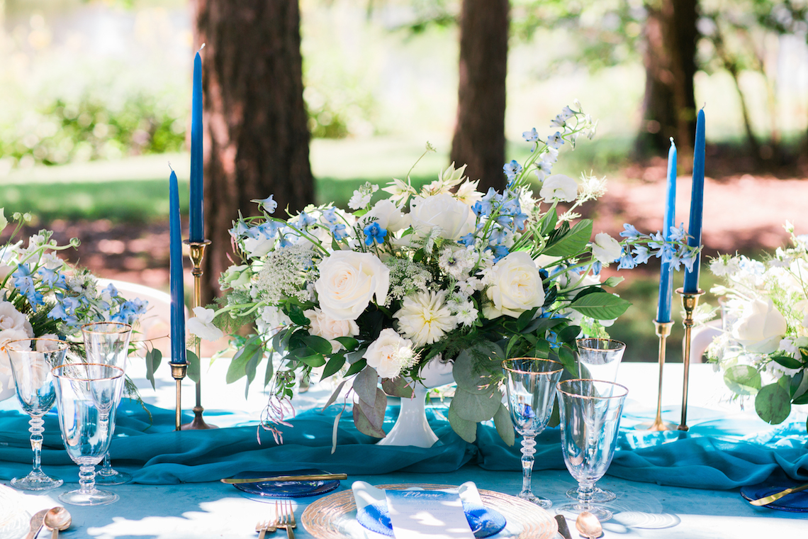 Vibrant Ocean Blue Watercolor Wedding Inspiration | Lola Event Productions | Artistrie Co. 2