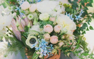 Vibrant Ocean Blue Watercolor Wedding Inspiration