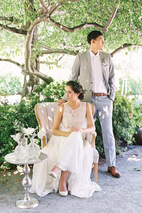 Vintage Lace; Pretty Wedding Ideas Featuring A Crepe Cake & Lamb's Ear Bouquet   Nathalie Cheng 21